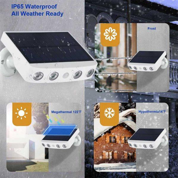 Led Solar Wall Street Light Pir Motion Sensor Outdoor Yard Park Waterproof Lamp (15)
