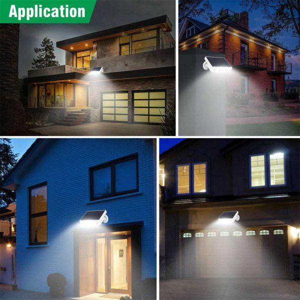 Led Solar Wall Street Light Pir Motion Sensor Outdoor Yard Park Waterproof Lamp (18)