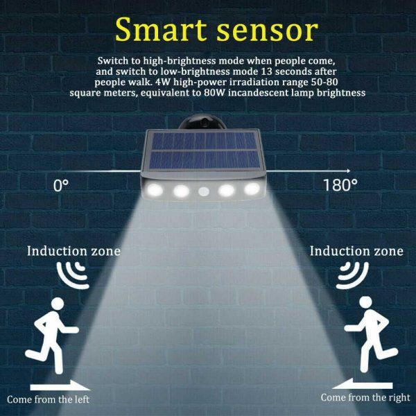 Led Solar Wall Street Light Pir Motion Sensor Outdoor Yard Park Waterproof Lamp (3)