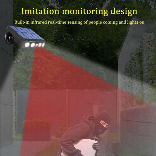 Led Solar Wall Street Light Pir Motion Sensor Outdoor Yard Park Waterproof Lamp (4)
