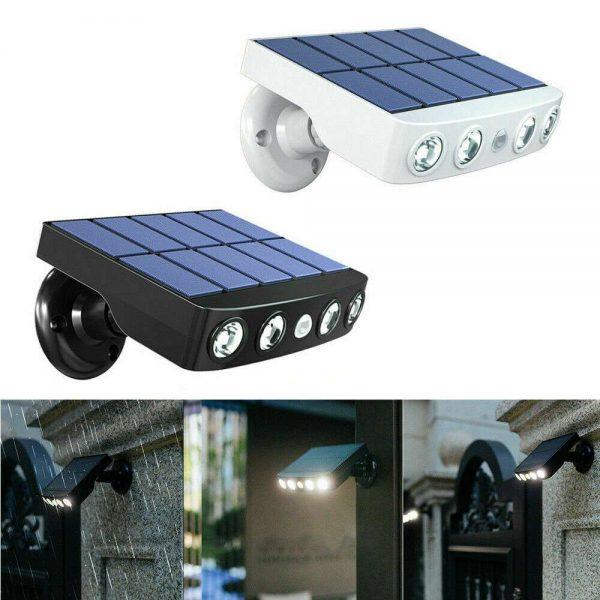 Led Solar Wall Street Light Pir Motion Sensor Outdoor Yard Park Waterproof Lamp (5)