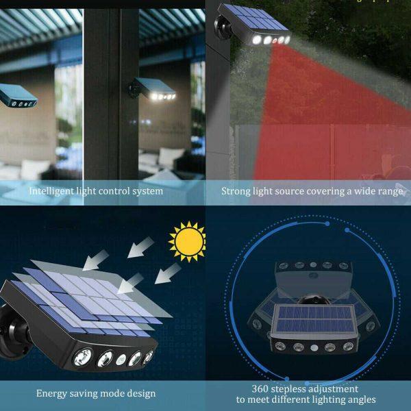 Led Solar Wall Street Light Pir Motion Sensor Outdoor Yard Park Waterproof Lamp (6)