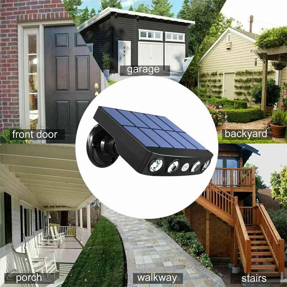 Led Solar Wall Street Light Pir Motion Sensor Outdoor Yard Park Waterproof Lamp (7)