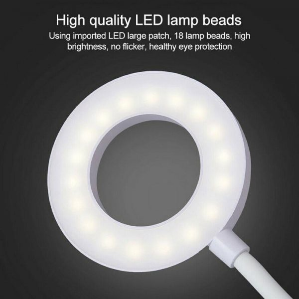 Led Usb Clip On Flexible Desk Lamp Dimmable Memory Bed Reading Table Study Light (12)