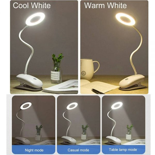 Led Usb Clip On Flexible Desk Lamp Dimmable Memory Bed Reading Table Study Light (6)