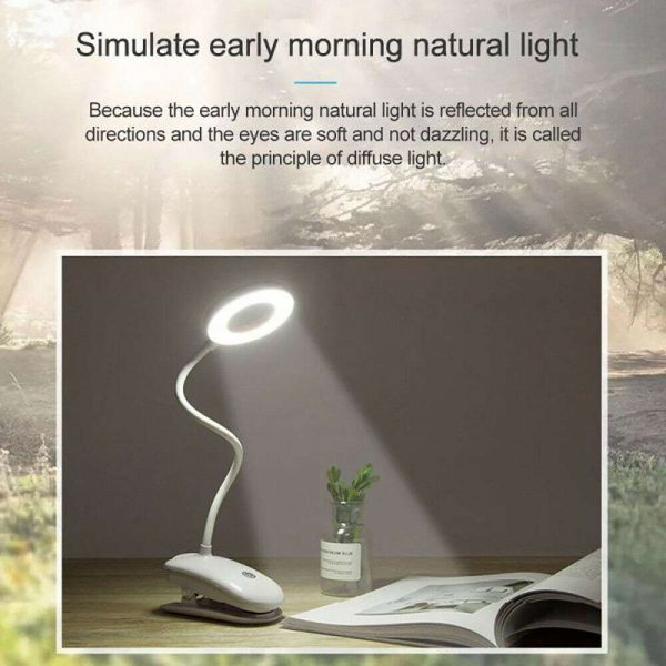 Led Usb Clip On Flexible Desk Lamp Dimmable Memory Bed Reading Table Study Light (7)