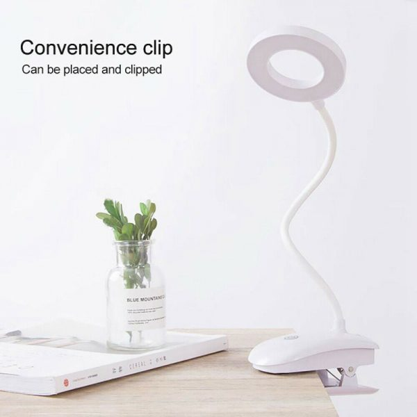 Led Usb Clip On Flexible Desk Lamp Dimmable Memory Bed Reading Table Study Light (8)