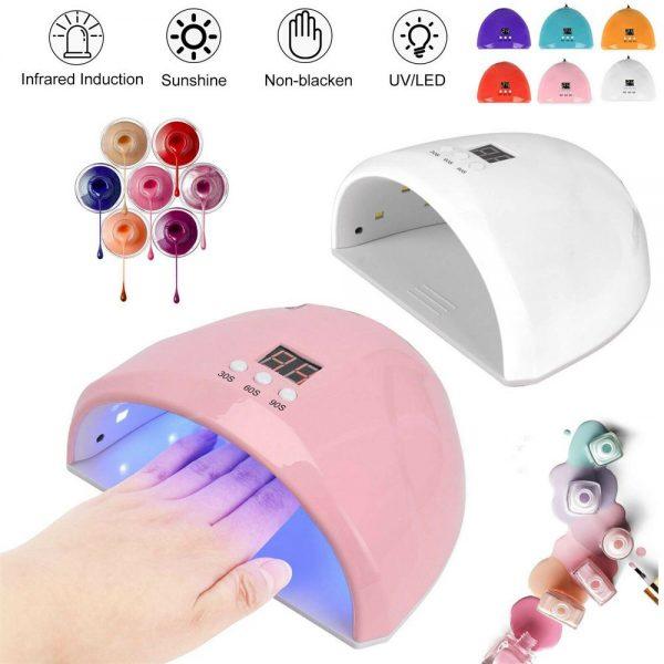 Led Uv New Nail Polish Dryer Lamp Gel Acrylic Curing Light Professional Spa Tool (11)