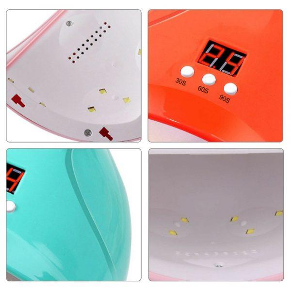 Led Uv New Nail Polish Dryer Lamp Gel Acrylic Curing Light Professional Spa Tool (4)