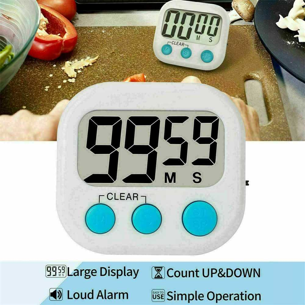 Large Lcd Digital Kitchen Egg Cooking Timer Count Down Clock Alarm Stopwatch Uk (12)