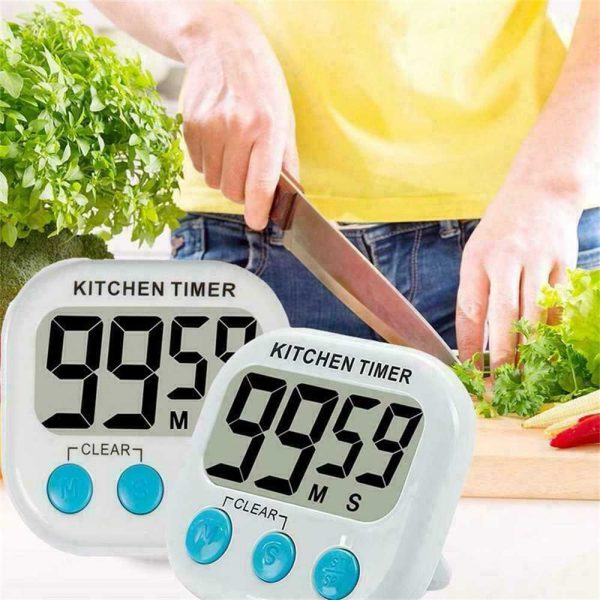 Large Lcd Digital Kitchen Egg Cooking Timer Count Down Clock Alarm Stopwatch Uk (2)