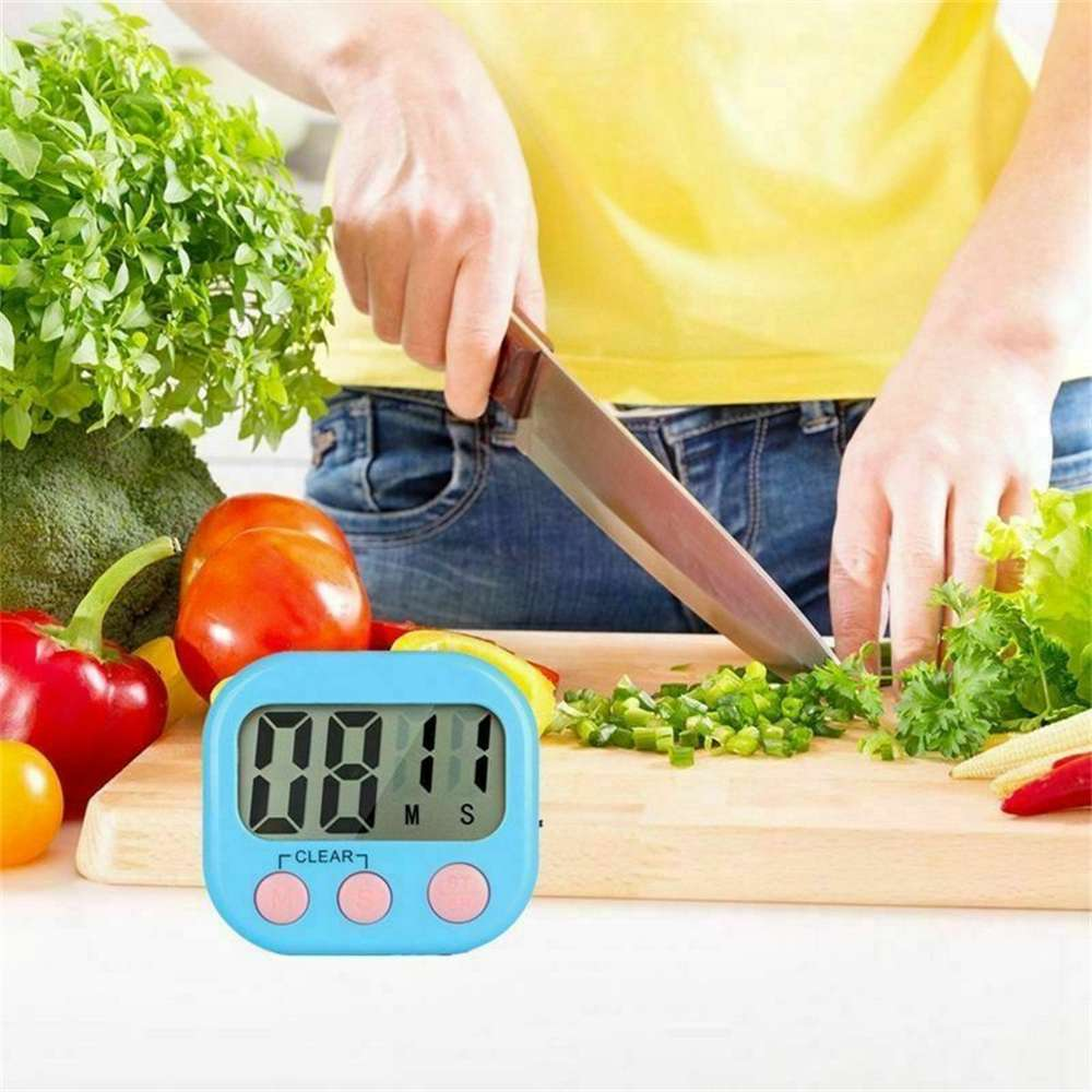 Large Lcd Digital Kitchen Egg Cooking Timer Count Down Clock Alarm Stopwatch Uk (3)