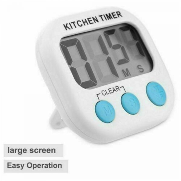 Large Lcd Digital Kitchen Egg Cooking Timer Count Down Clock Alarm Stopwatch Uk (6)