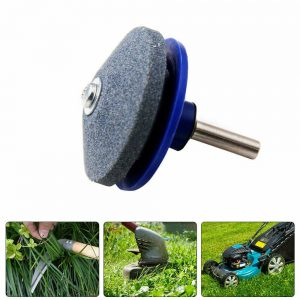 Lawnmower Blade Sharpener Garden Tools Grinder Fits Any Power Drill Hand Drill (12)