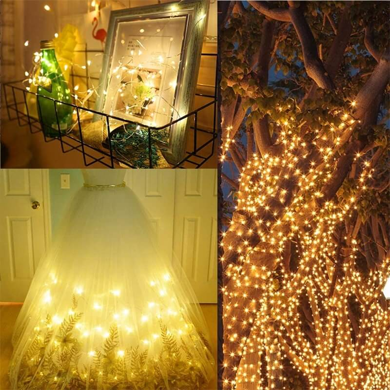 Led Curtain Lights Usb With Led Remote Control Copper Wire Curtain Light 32m Warm White (11)