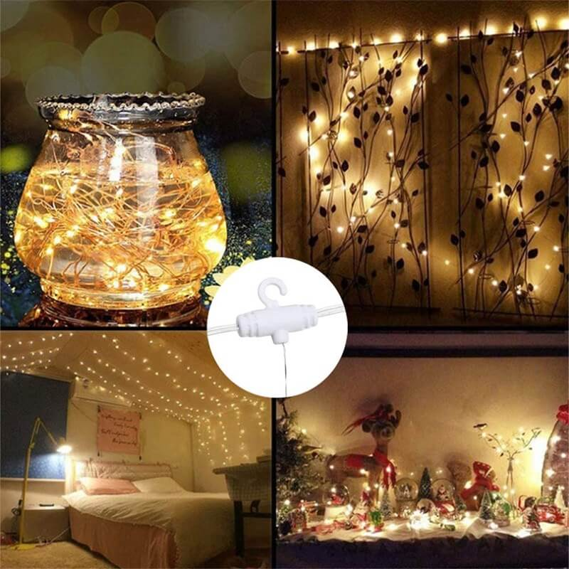 Led Curtain Lights Usb With Led Remote Control Copper Wire Curtain Light 32m Warm White (12)