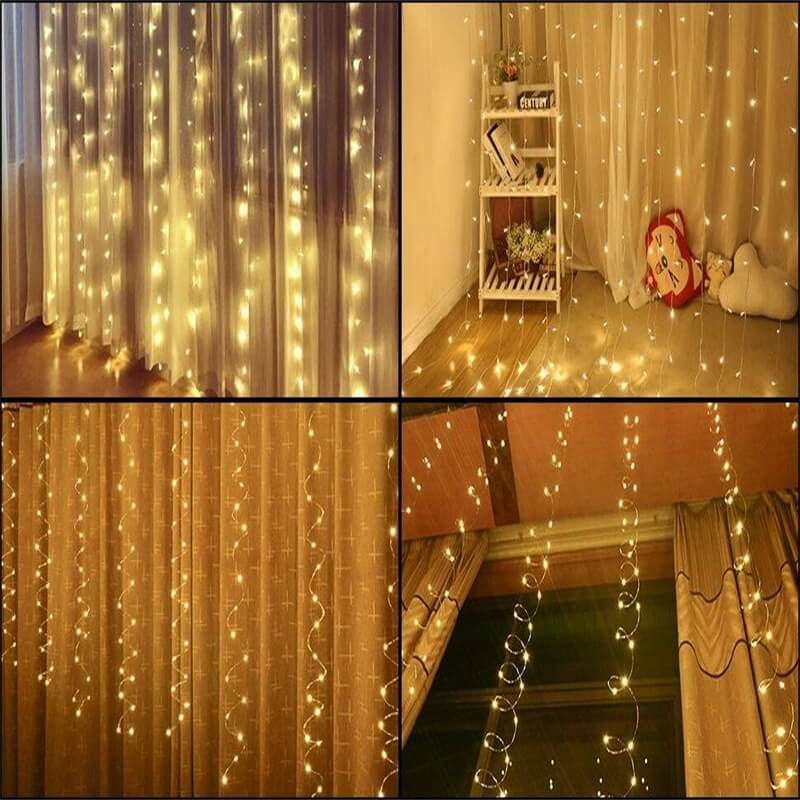 Led Curtain Lights Usb With Led Remote Control Copper Wire Curtain Light 32m Warm White (15)