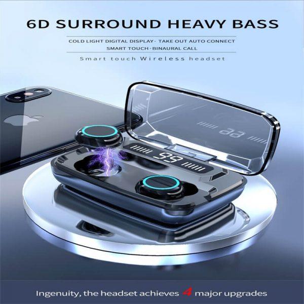 M11 Wireless Blutooth 5.0 Earphones Earbuds Wireless Gaming Headset Waterproof Earphone (12)