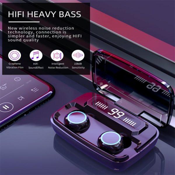 M11 Wireless Blutooth 5.0 Earphones Earbuds Wireless Gaming Headset Waterproof Earphone (6)