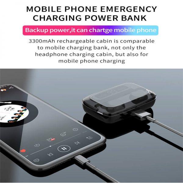M11 Wireless Blutooth 5.0 Earphones Earbuds Wireless Gaming Headset Waterproof Earphone (7)