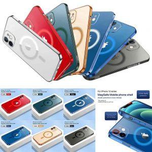 Magnetic Clear Phone Case Mag Safe Cover For Apple Iphone 12 & Iphone 12 Pro (1)
