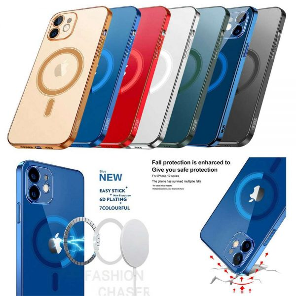 Magnetic Clear Phone Case Mag Safe Cover For Apple Iphone 12 & Iphone 12 Pro (13)