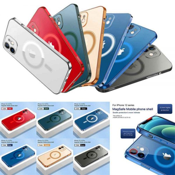 Magnetic Clear Phone Case Mag Safe Cover For Apple Iphone 12 & Iphone 12 Pro (2)