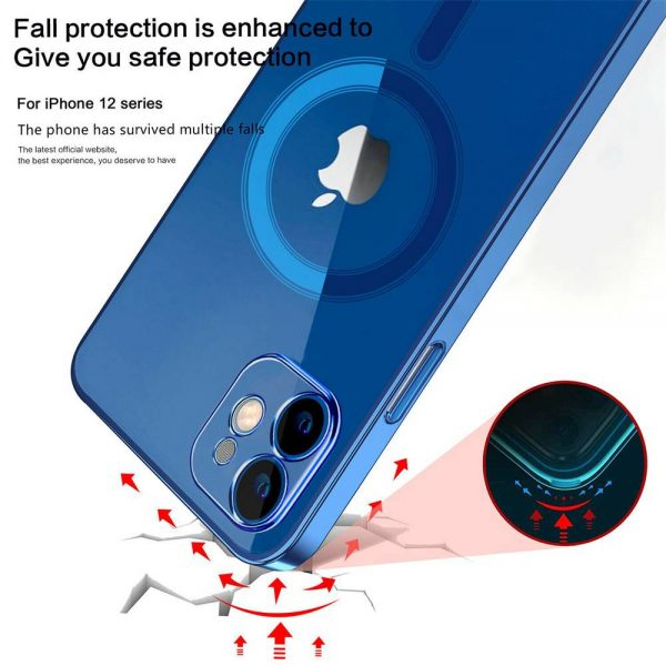 Magnetic Clear Phone Case Mag Safe Cover For Apple Iphone 12 & Iphone 12 Pro (3)