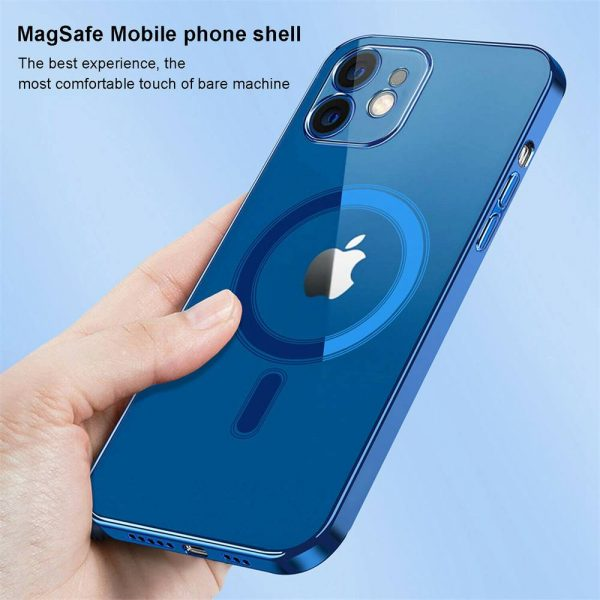 Magnetic Clear Phone Case Mag Safe Cover For Apple Iphone 12 & Iphone 12 Pro (4)