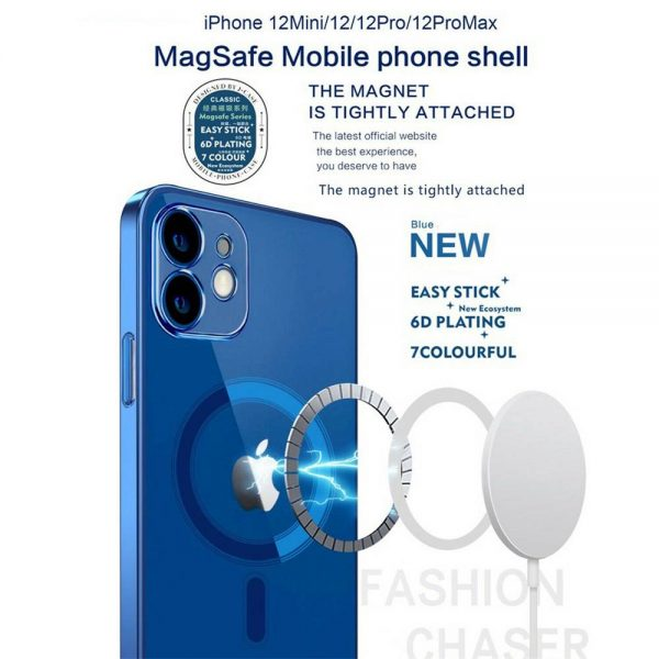 Magnetic Clear Phone Case Mag Safe Cover For Apple Iphone 12 & Iphone 12 Pro (5)