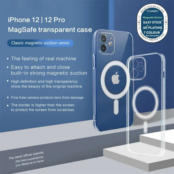 Magnetic Clear Phone Case Mag Safe Cover For Apple Iphone 12 & Iphone 12 Pro (6)