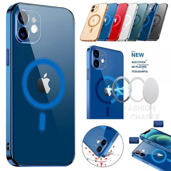 Magnetic Clear Phone Case Mag Safe Cover For Apple Iphone 12 & Iphone 12 Pro (7)