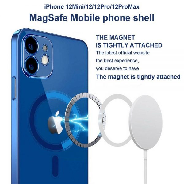 Magnetic Clear Phone Case Mag Safe Cover For Apple Iphone 12 & Iphone 12 Pro (8)