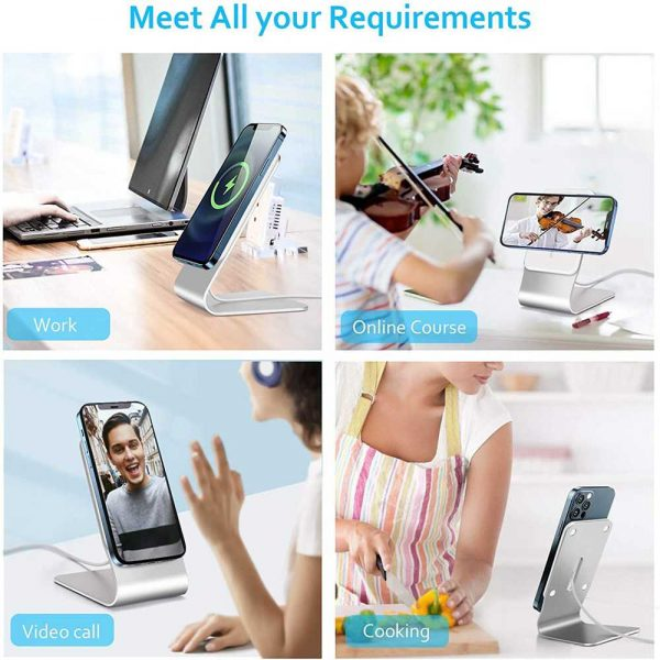 Magnetic Wireless Charging Stand Desktop With Mag Safe For Iphone 12 Pro Max (10)