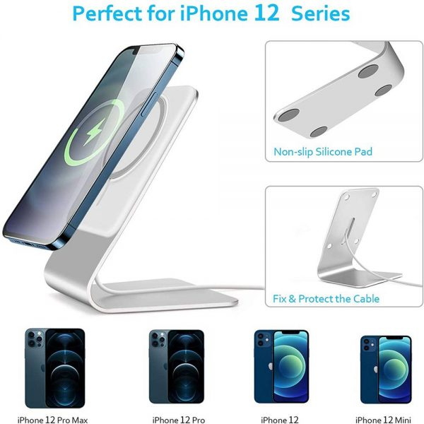 Magnetic Wireless Charging Stand Desktop With Mag Safe For Iphone 12 Pro Max (13)