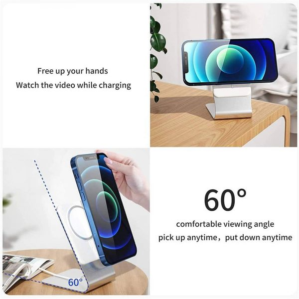 Magnetic Wireless Charging Stand Desktop With Mag Safe For Iphone 12 Pro Max (14)
