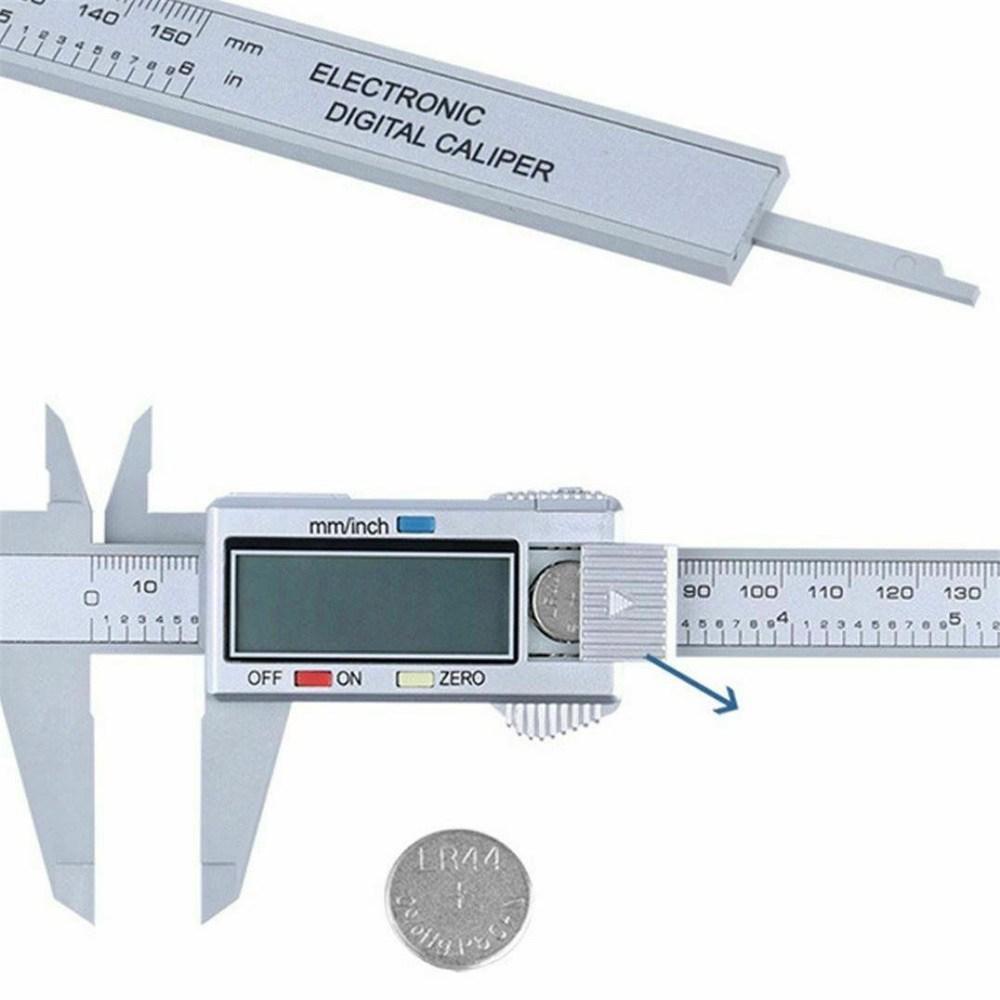 Micrometer Vernier Caliper Gauge Digital Measuring Ruler Electronic 6 150mm Lcd (3)