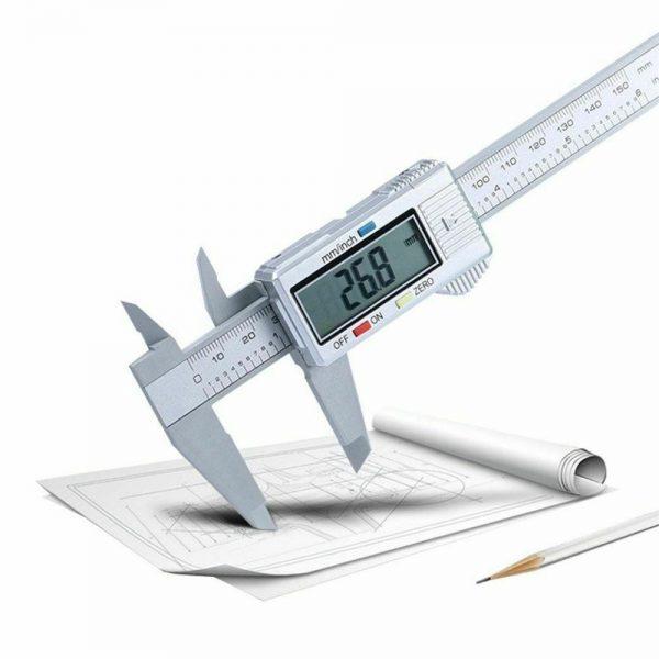 Micrometer Vernier Caliper Gauge Digital Measuring Ruler Electronic 6 150mm Lcd (8)