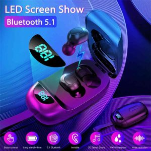 Mini Bluetooth 5.0 Earbuds Tws Wireless Headset Earphones Stereo Dual Headphones (1)
