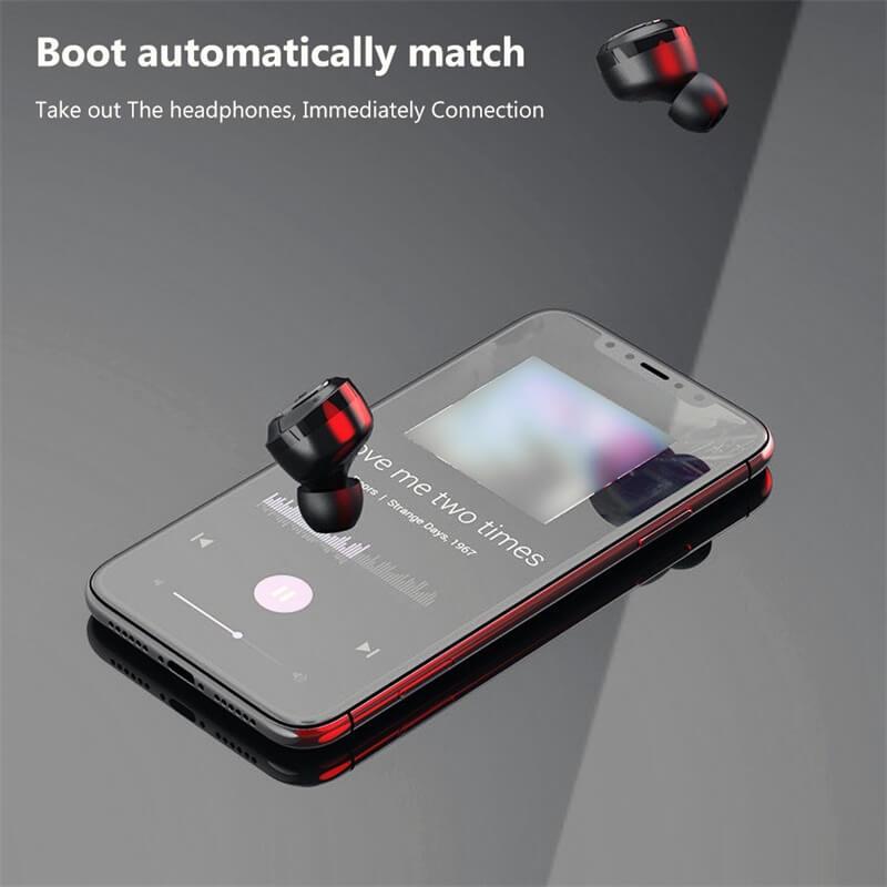 Mini Earbuds With Mic Headphone Stereo Headset Wireless Earphone (7)