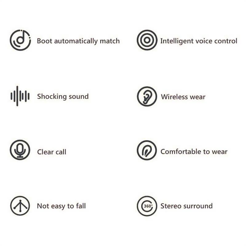 Mini Earbuds With Mic Headphone Stereo Headset Wireless Earphone (8)