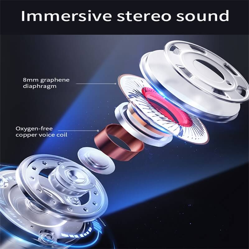 Mini Portable Earphone Microphone Stereo Earbuds Wireless Earbuds With Charging Box Earphone (2)