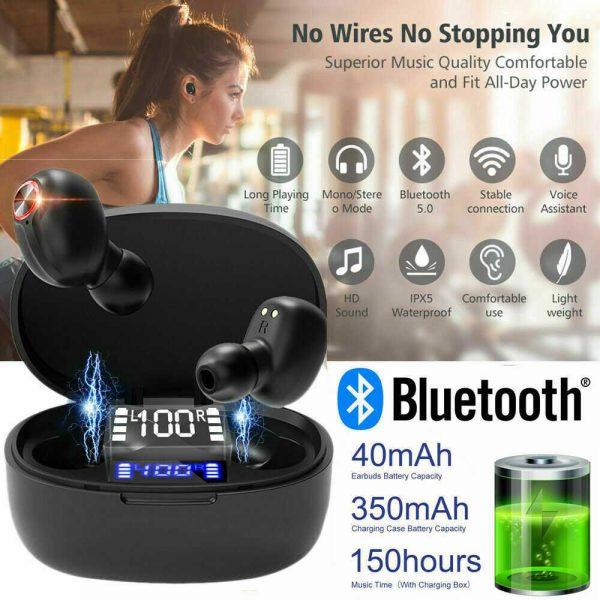 Mini Tws Bluetooth 5.0 Earbuds True Wireless Stereo Earphones Headphones 2021 (2)