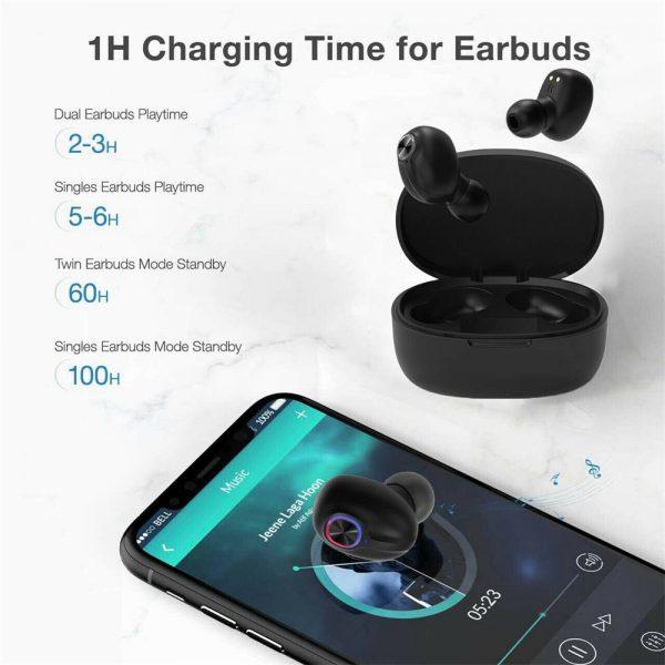 Mini Tws Bluetooth 5.0 Earbuds True Wireless Stereo Earphones Headphones 2021 (6)