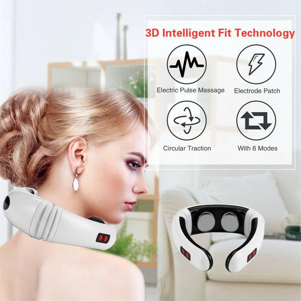 Neck Massager Intelligent Electric Pulse Back Cervical Care Spine Pain Massage (2)