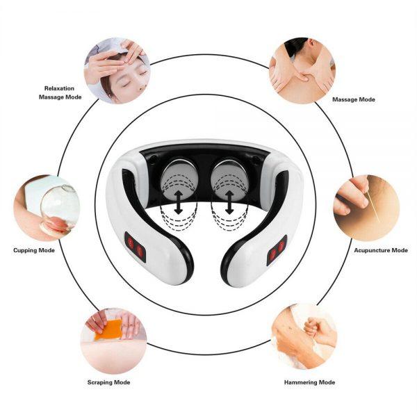 Neck Massager Intelligent Electric Pulse Back Cervical Care Spine Pain Massage (3)