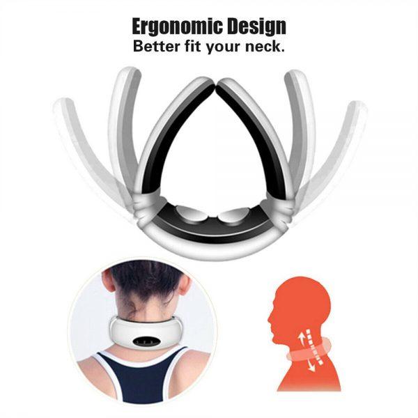 Neck Massager Intelligent Electric Pulse Back Cervical Care Spine Pain Massage (4)