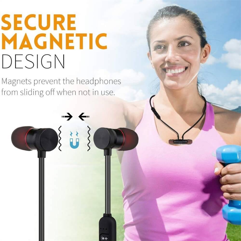 Neckband Magnetic Earphone Active Noise Cancelling Wireless Gaming Headset Stereo Earbuds (2)