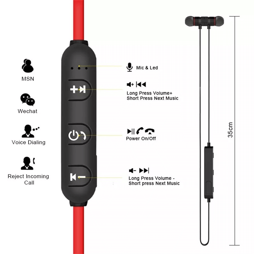 Neckband Magnetic Earphone Active Noise Cancelling Wireless Gaming Headset Stereo Earbuds (3)