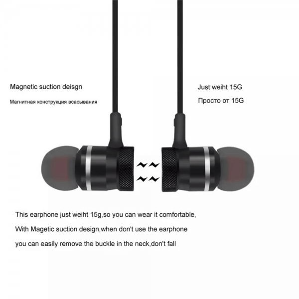 Neckband Magnetic Earphone Active Noise Cancelling Wireless Gaming Headset Stereo Earbuds (4)